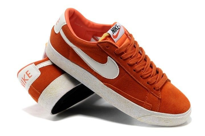Nike blazer low femme rouge