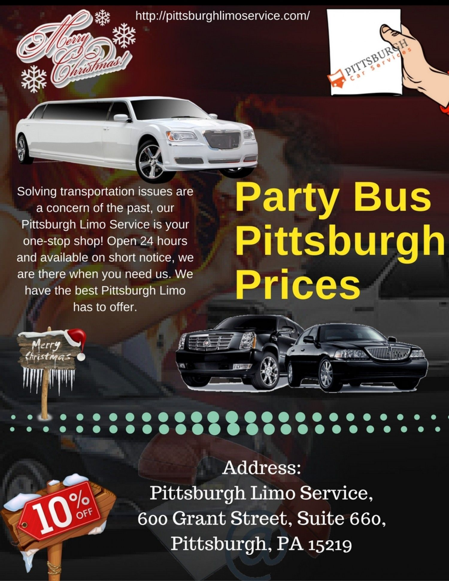 Party Bus Pittsburgh Prices Infographic Pittsburghlimoservice