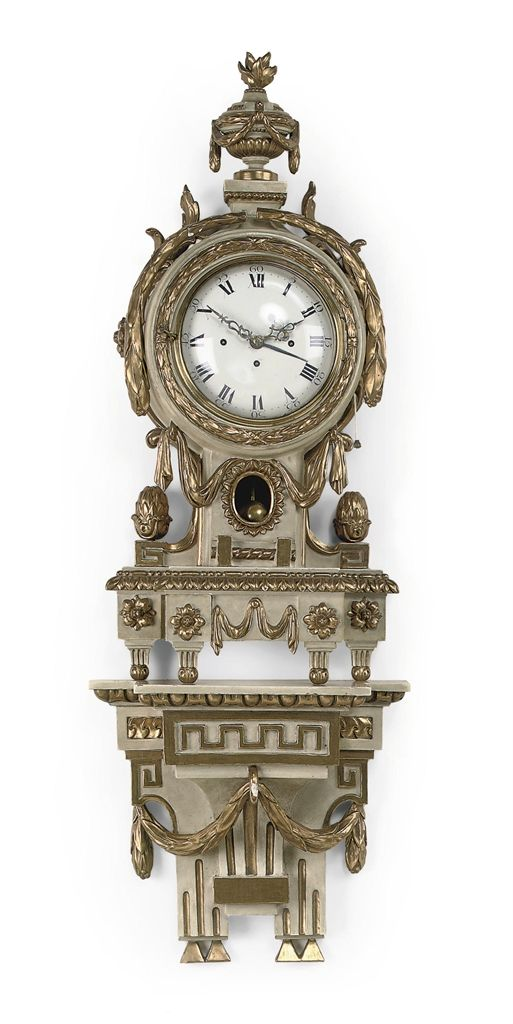 an austrian carved wood gesso and parcelgilt grande sonnerie bracket clock with