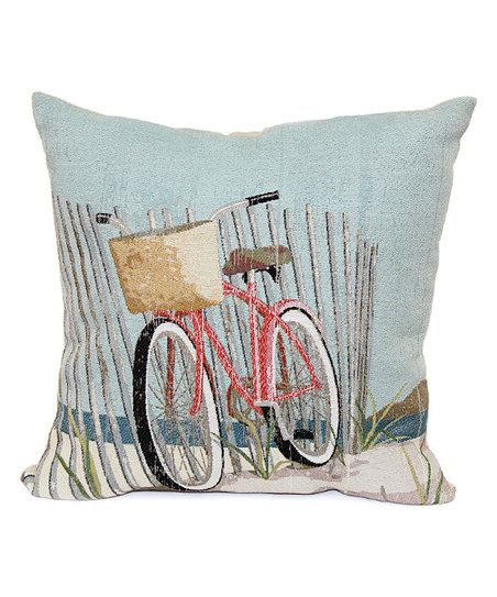 Brentwood Originals Nantucket Bicycle Throw Pillow Zulily Enchanting Brentwood Originals Decorative Pillows And Chair Pads