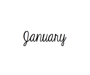 Image result for cursive january | January quotes, Calligraphy words,  Months in a year