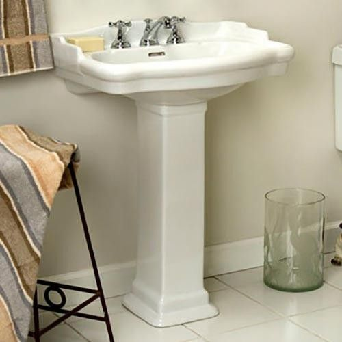 Signature Hardware Stanford Pedestal Sink Small 21 3 4 L X 17