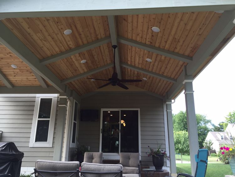 Vaulted ceiling open porch westerville oh 750 563 for Open porch roof designs