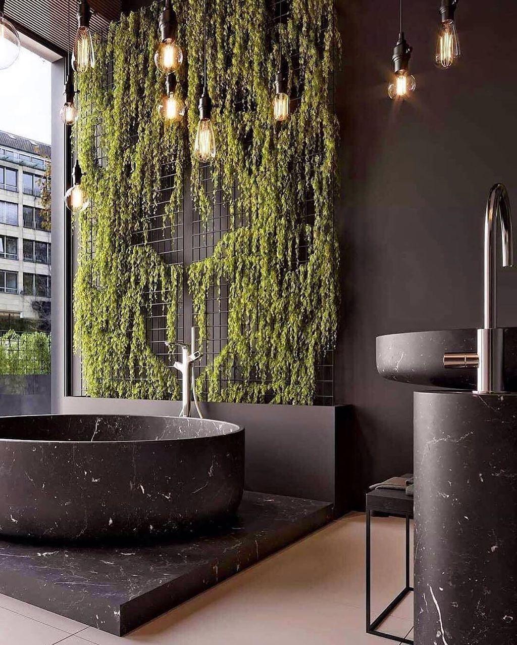 30 Inspiring Black Marble Bathroom Design Ideas With Stylish Accent Marble Bathtub Black Marble Bathroom Marble Bathroom Designs