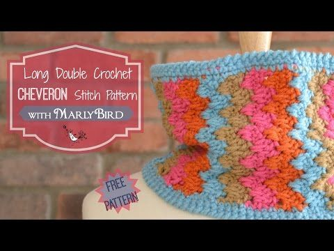 Long Double Crochet Chevron Stitch Pattern Marly Bird Includes A