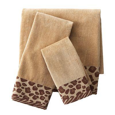 Croft and Barrow Cheetah Bath Towels   Teen Bathroom ...