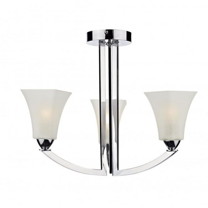 The lighting book arlington modern chrome 3 arm ceiling light