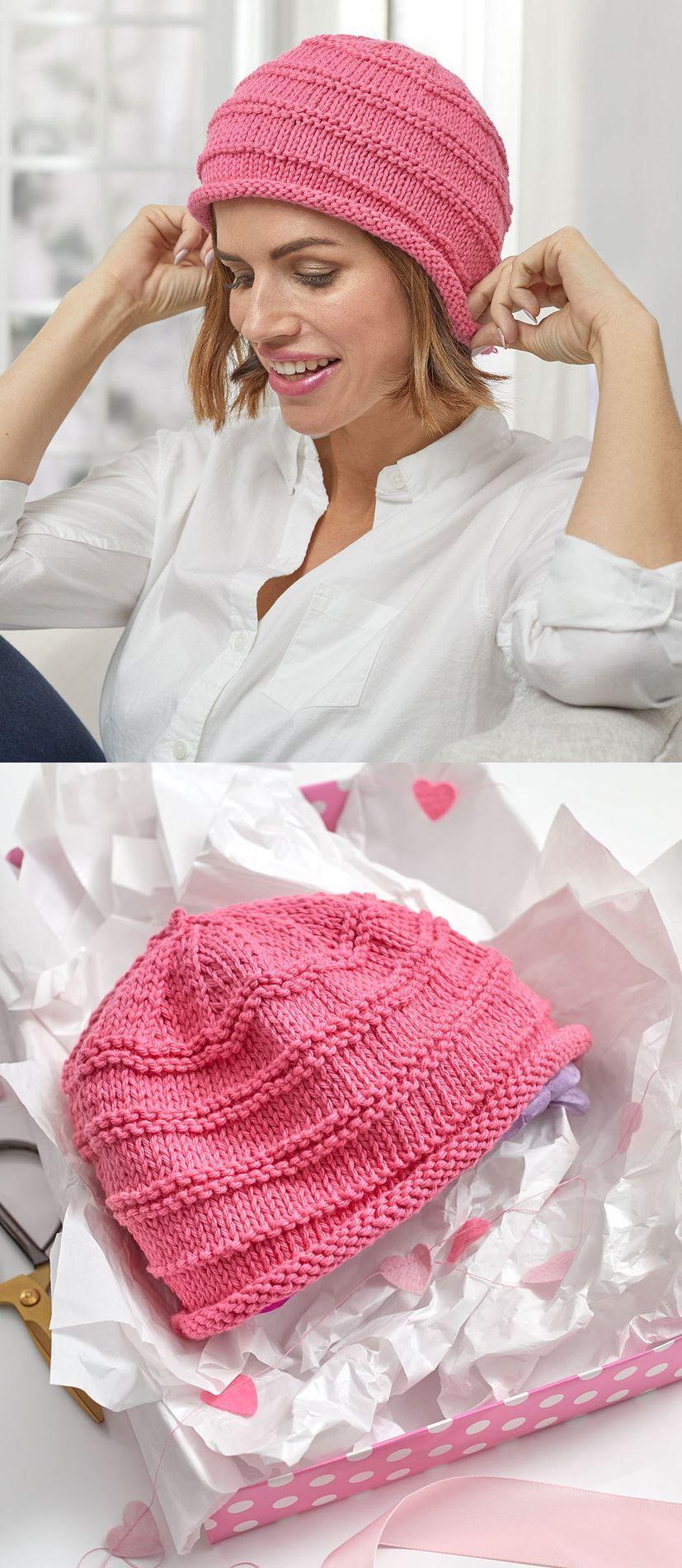 12+ Easy Knitted Beanie Pattern   Knit beanie pattern ...