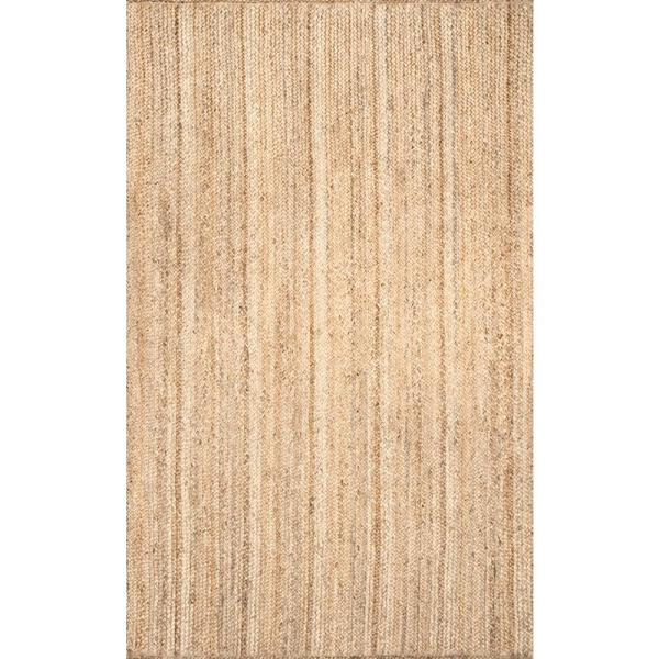 Nuloom Rigo Chunky Loop Jute Tan 6 Ft X 9 Ft Area Rug Tajt03 609 The Home Depot Area Rugs Jute Area Rugs Rugs