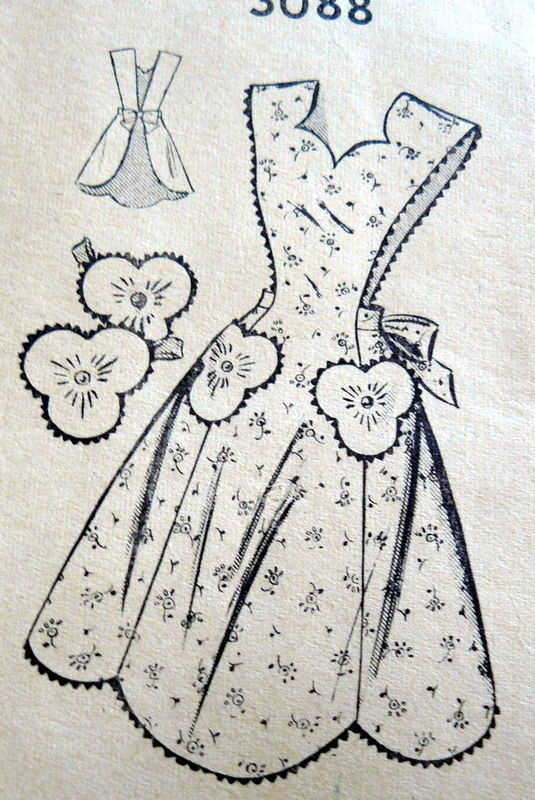 LOVELY VTG 1940s APRON & POTHOLDERS Sewing Pattern MEDIUM