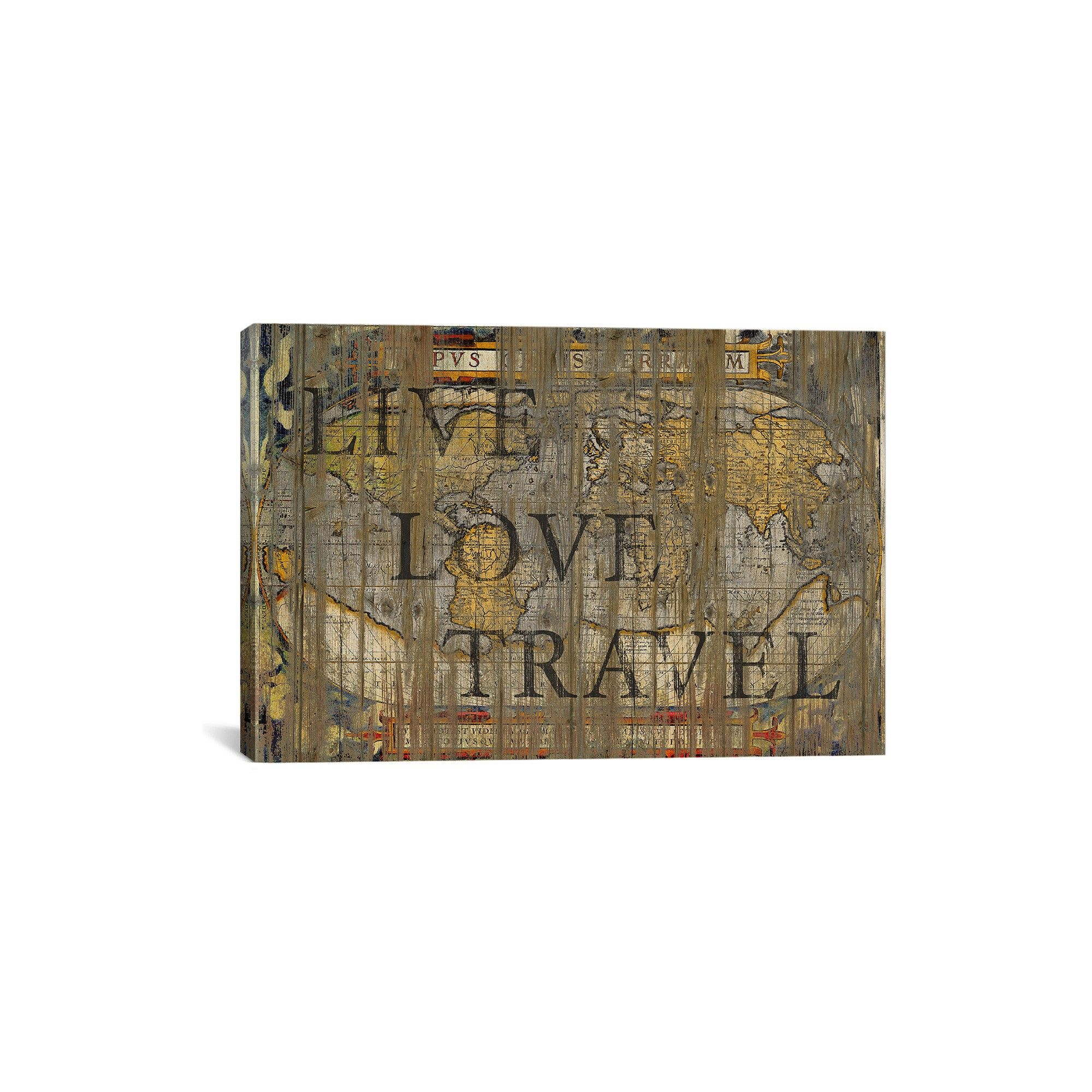 Live Love Travel By Go Tirigall Canvas Print 12 X 18