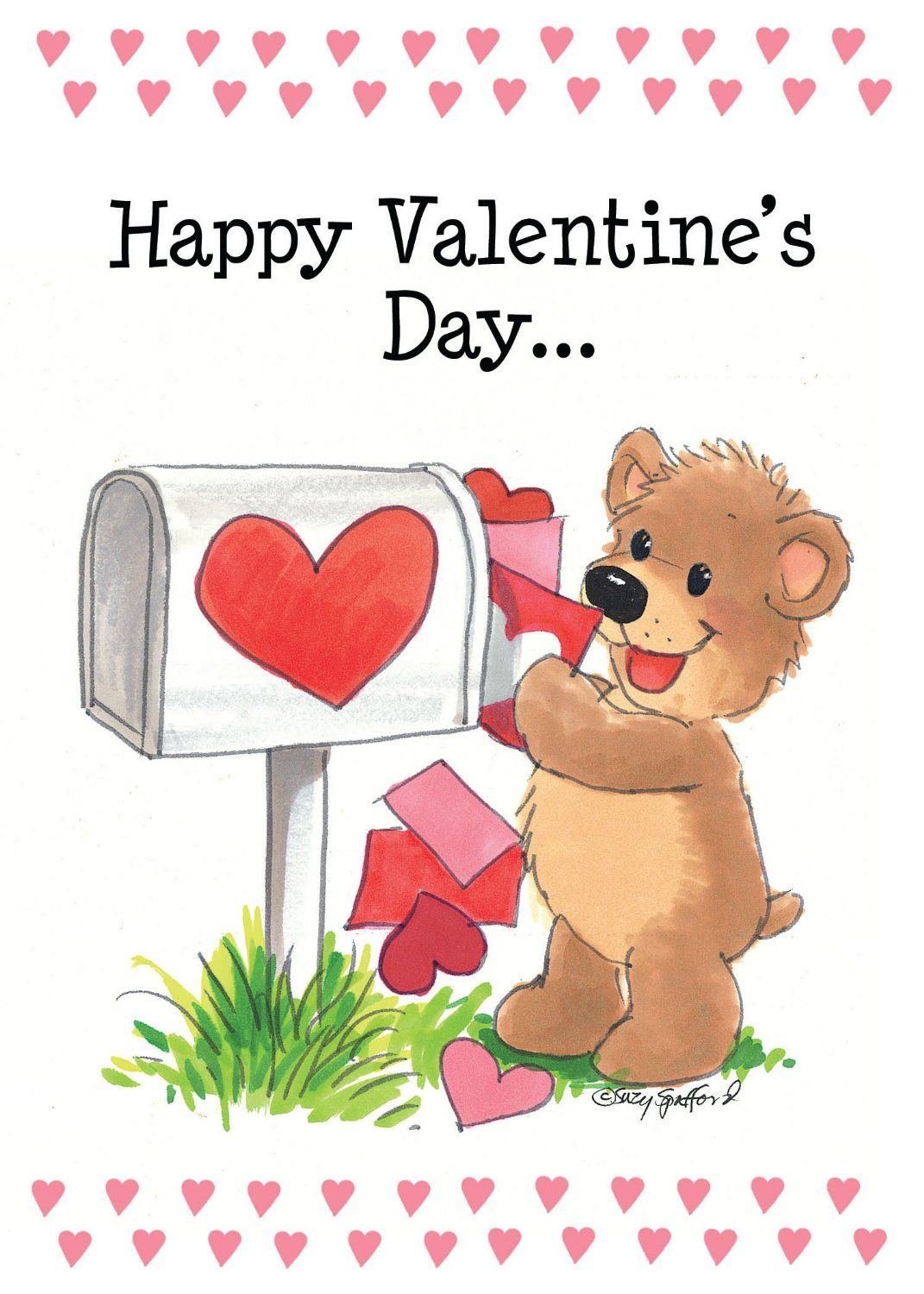 Suzys Zoo Valentines Cards 4pack A Valentine Hug 10954 by – Granddaughter Valentine Card