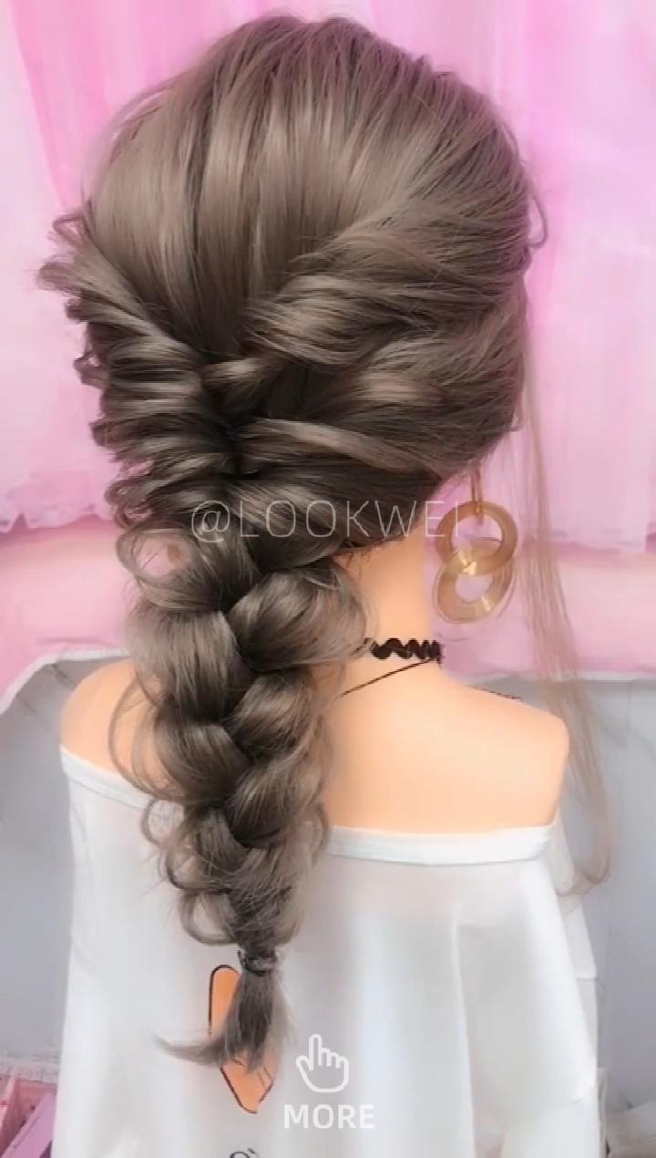 Hairstyle Video Hairstyle Video Diyhairstyles Hairstyleideas Hairstyle Hairstylesforroundfaces Vide In 2020 Long Hair Video Hair Videos Long Hair Styles