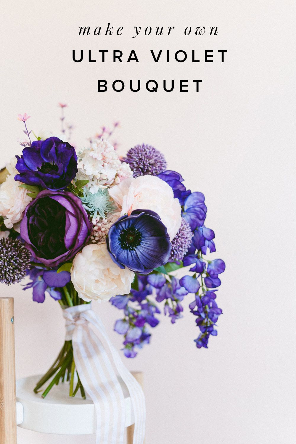Make this Easy Ultra Violet Wedding Bouquet for Spring  DIY Wedding