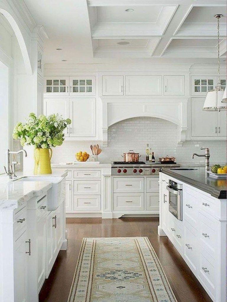 35 The Best White Kitchen Cabinet Design Ideas To Improve ...