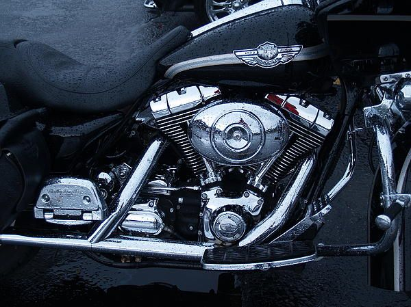 Harley Davidson motorcycle taken in Knox, Indiana by me.
