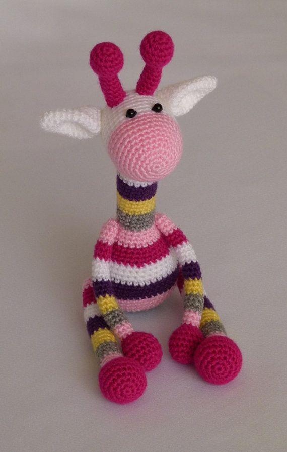 colourful giraffe amigurumi crochet toy baby soft ?? ...