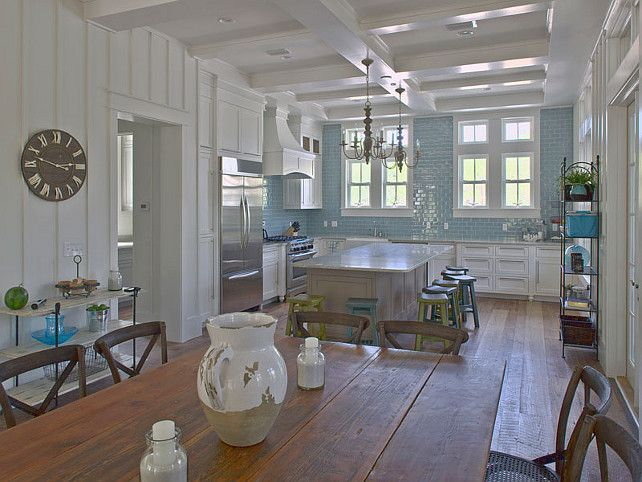 Marvelous Beautiful Classic Kitchen Design | Coastal Home With Turquoise Interiors