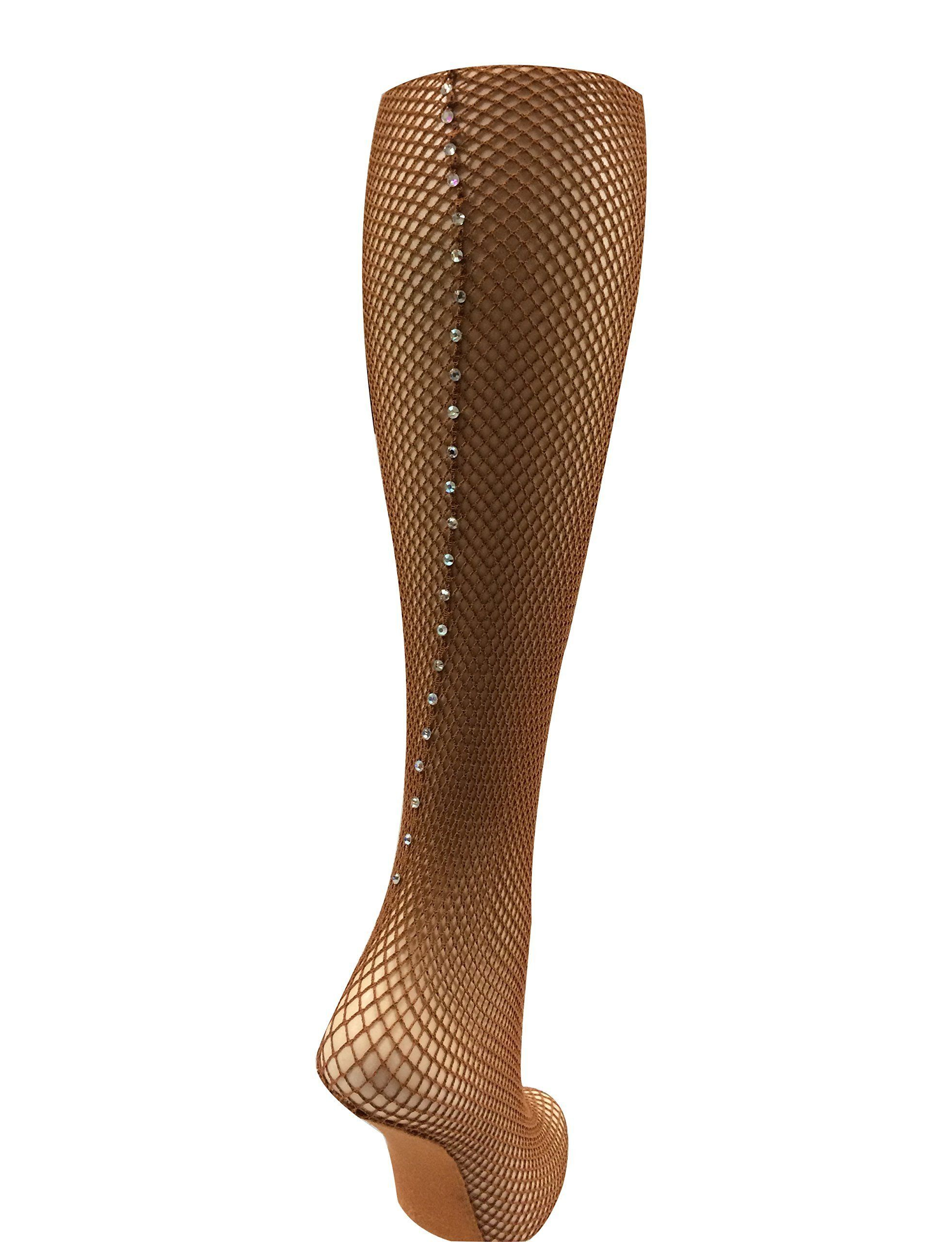 3bc3ec98486d5 Capezio Swarovski Rhinestones Fishnet Seamed Tights 3400 4.4 out of 5 stars  via 20 review(