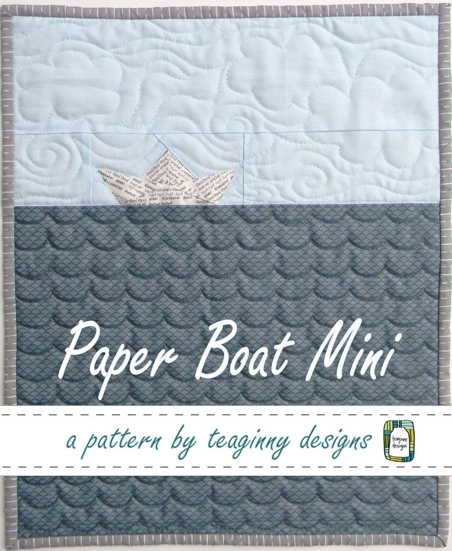 Kinder Quilt Patronen.Paper Boat Mini Quilt Pattern Pdf 3 50 Via Etsy Fancy Diy