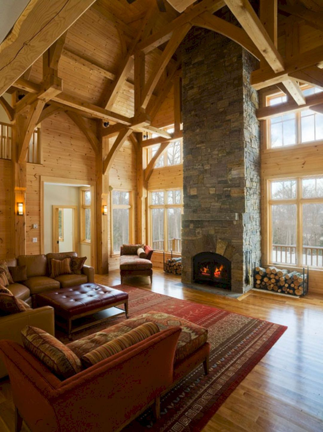 Superb Cozy And Rustic Cabin Style Living Rooms Ideas No ...