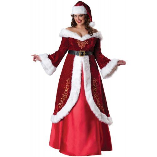 Incharacter Costumes Womens Plus Size Mrs St Nick Redwhite 3x