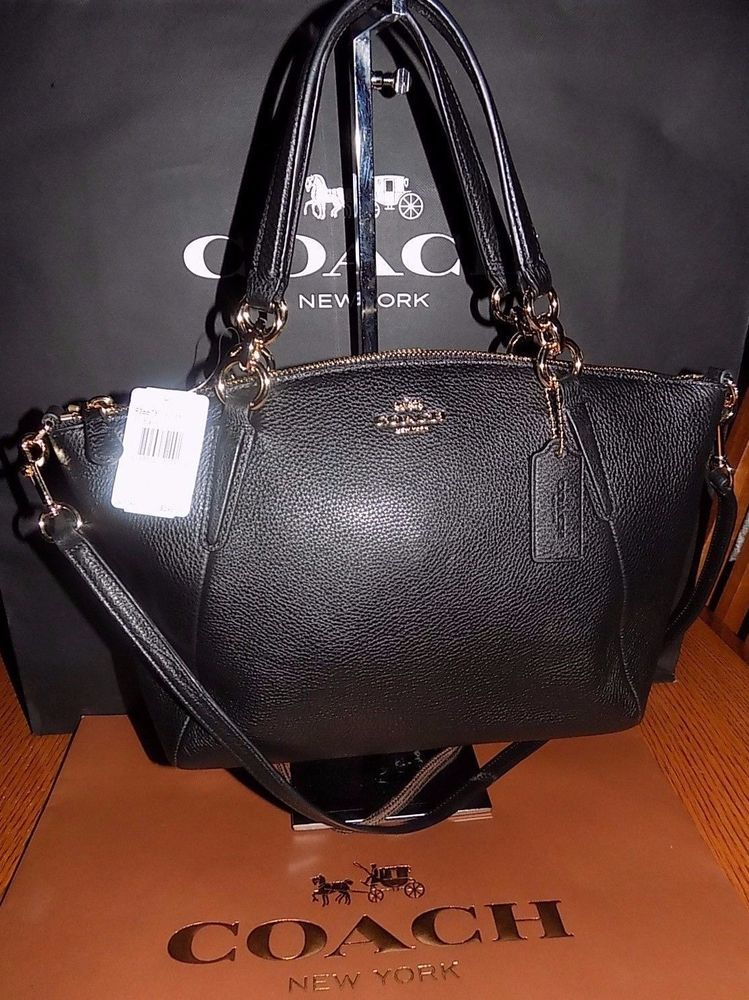 f958c12c2b ... promo code for nwt coach f36675 pebble leather small kelsey satchel  crossbody bag 295 black coach
