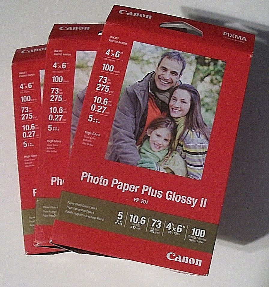 4x6 Canon Pixma Inkjet Photo Paper Plus Glossy Ii Lot Of 3 Boxes