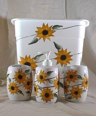 Good Bathroom Set   Sunflower