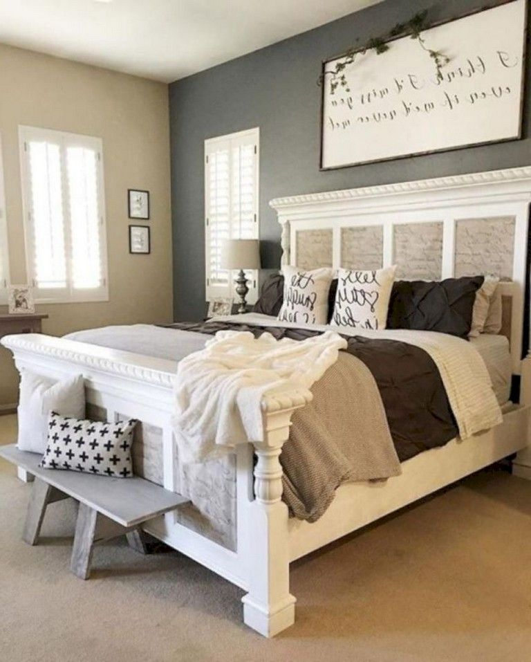 40 finest modern farmhouse bedroom decor ideas bedroomdecor rh pinterest com