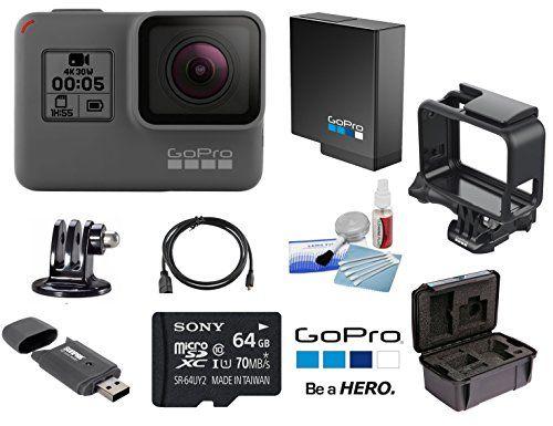 GoPro HERO5 Black CHDHX-501 + GoPro Battery + GoPro The Frame + Sony ...