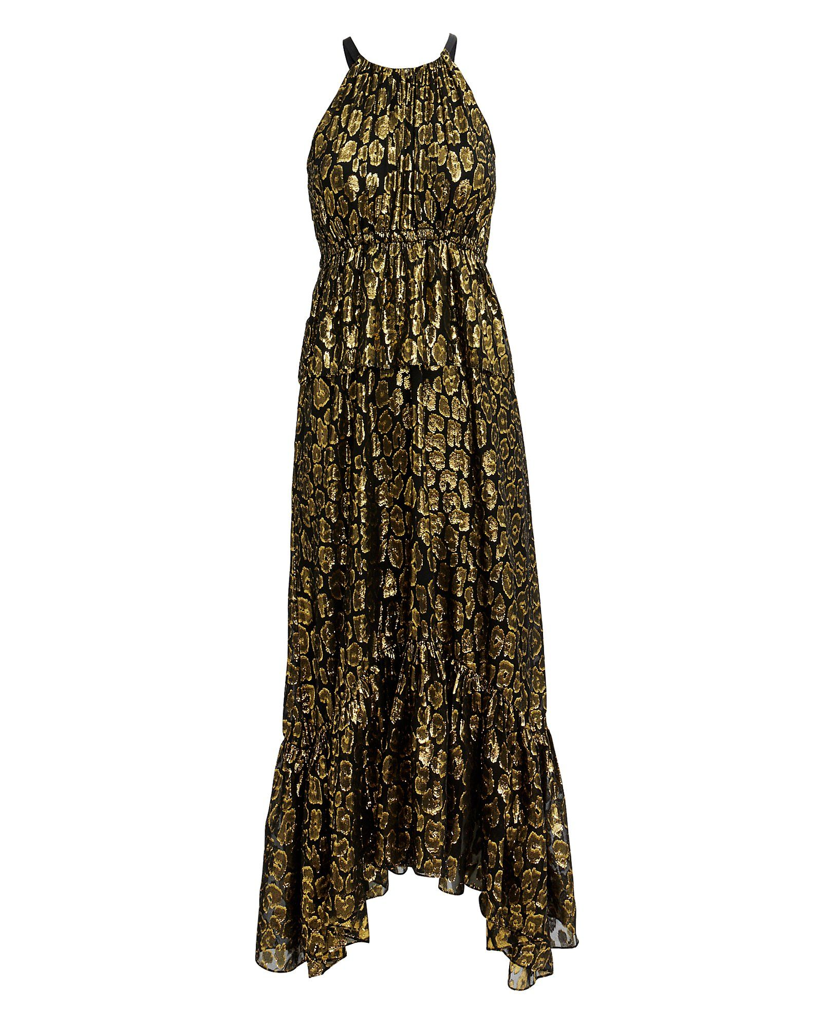 872ba60e67e858 Rosa Golden Leopard Midi Dress Pregnancy Style, Maternity Fashion, Victoria  Beckham, News Design