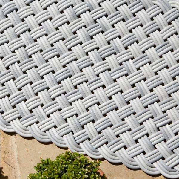 Shore Rug Basket Weave Cord Knot Texture Woven Soft Comfort Waterproof Waterproof Outdoor Rugs Shore Rug Outdoor Rugs Patio