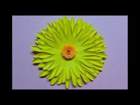 How to make sunflower paper flower easy origami flowers for how to make sunflower paper flower easy origami flowers for beginners making diy paper mightylinksfo