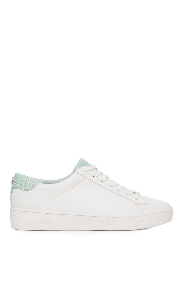 d20a65c4910 Sneakers Irving Lace Up OPTIC WHITE/CELADON - Michael - Michael Kors -  Designers -