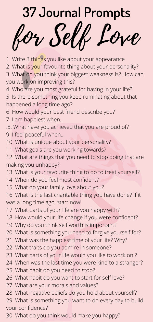 37 Journal Prompts for Self Love