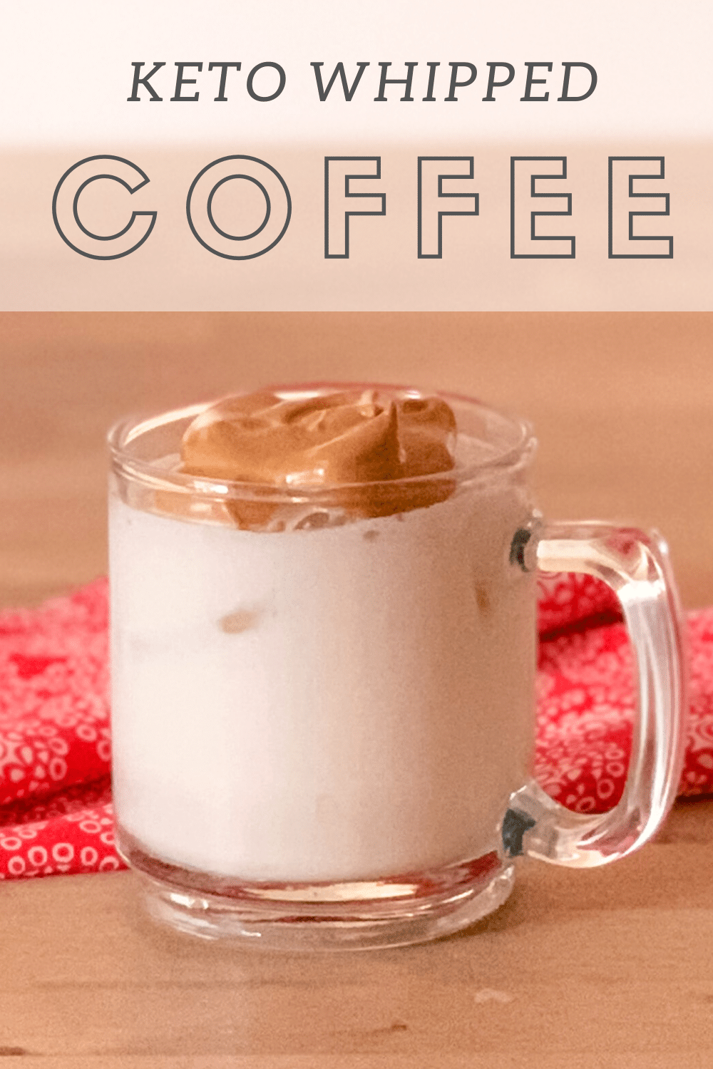 Keto Whipped Coffee Make with your choice of milk for a