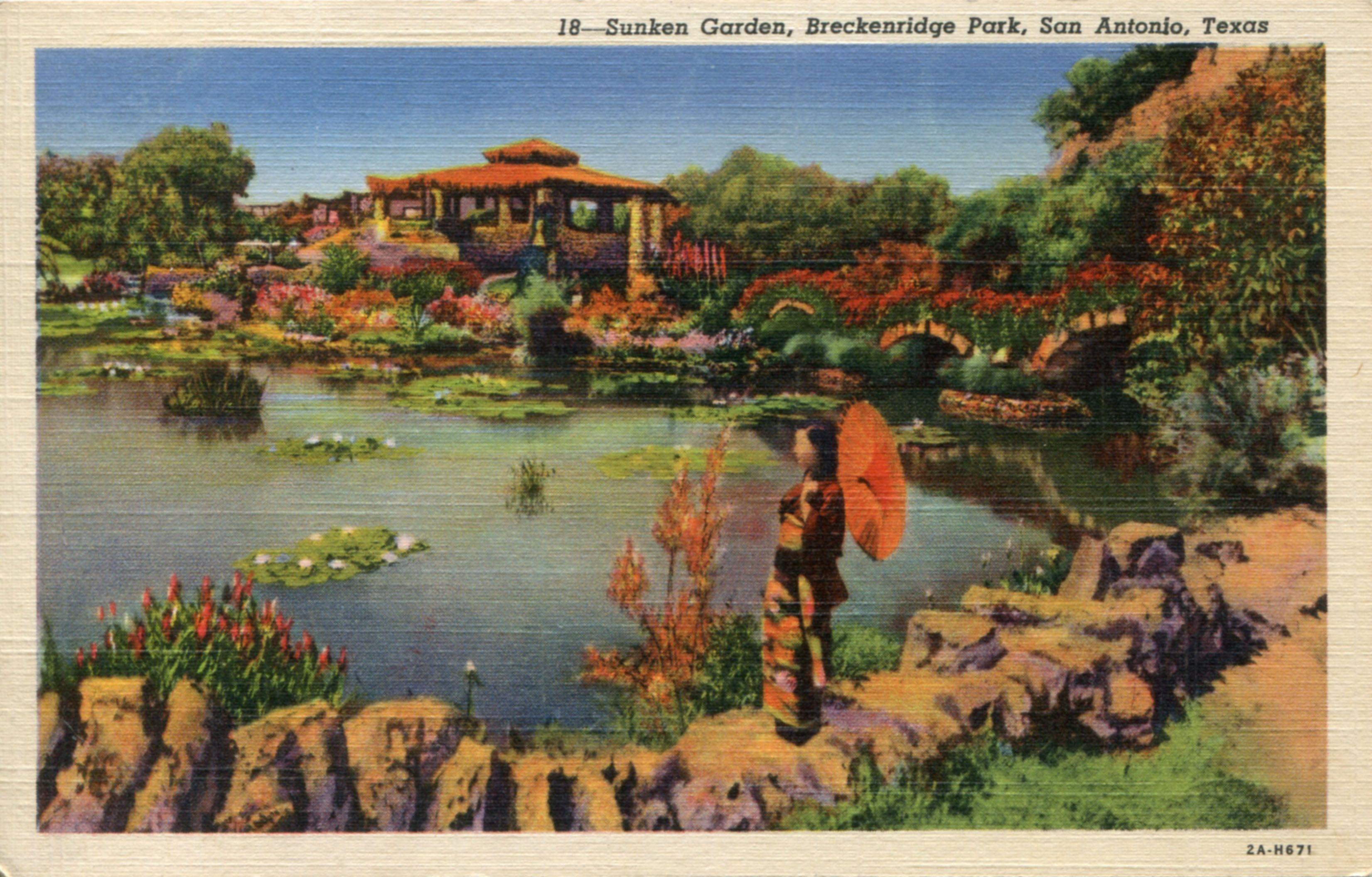 SUNKEN GARDEN, BRECKENRIDGE PARK, SAN ANTONIO, TEXAS One of the ...
