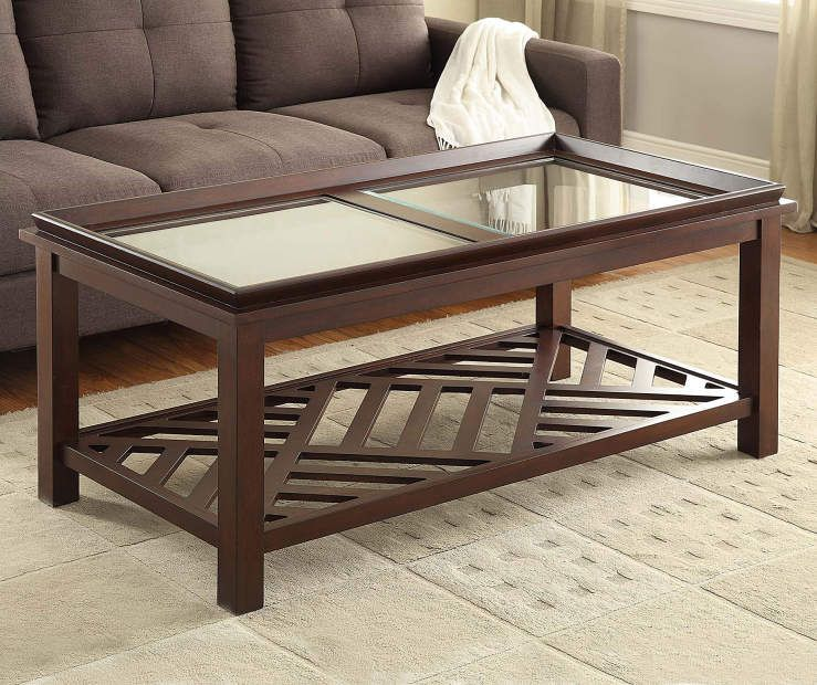 Beveled Coffee Table With Diagonal Slat Bottom At Big Lots Coffee Table Slate Coffee Table Affordable Living Room Furniture