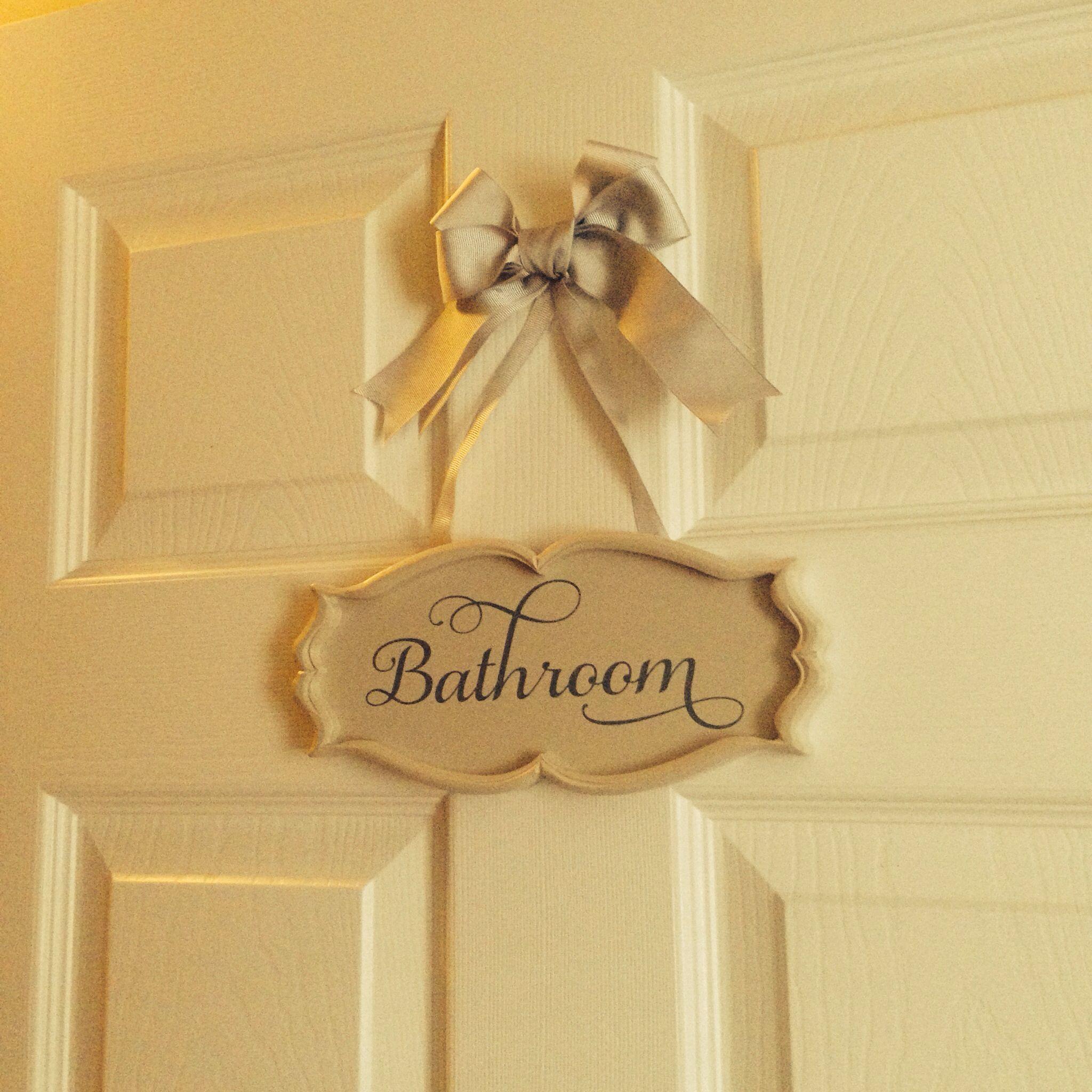 My Bathroom Door Sign Pretty Bathroom Door Sign Bathroom Signs Door Signs Diy