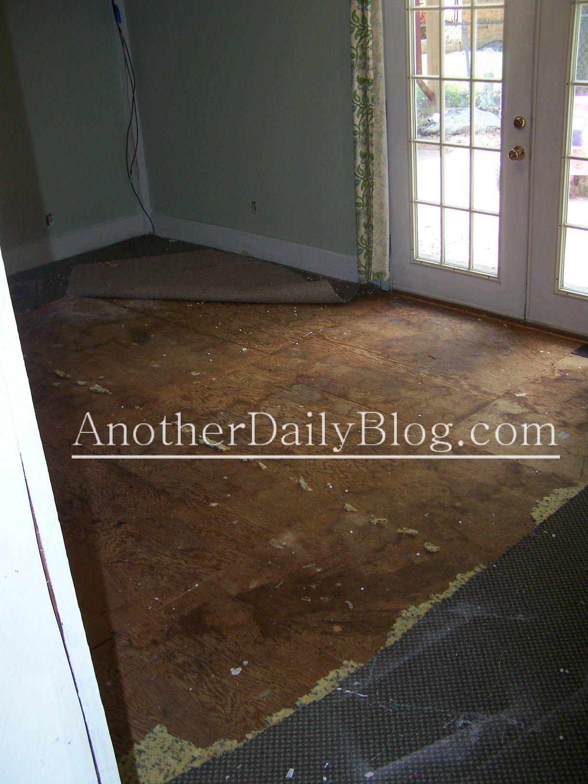 Another Daily Blog Diy How To Make Plywood Subfloor Look Like Wide Plank Hardwood Flooring Plywood Subfloor Wide Plank Hardwood Floors Flooring