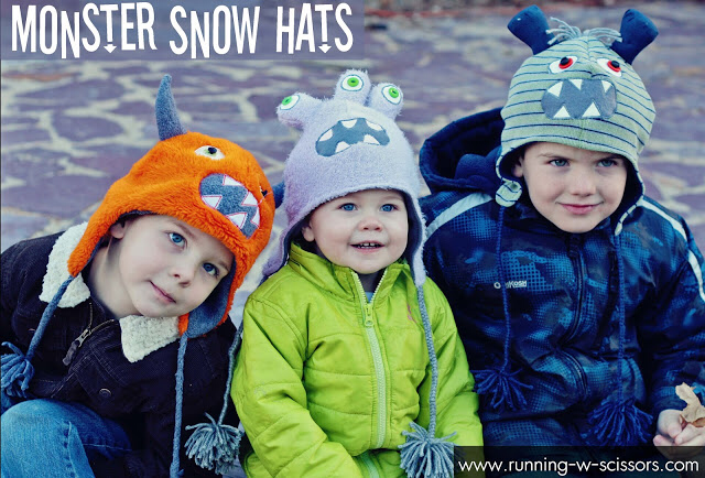 Make DIY Monster Hats - a great DIY Gift Idea! #uncinettoperbambina