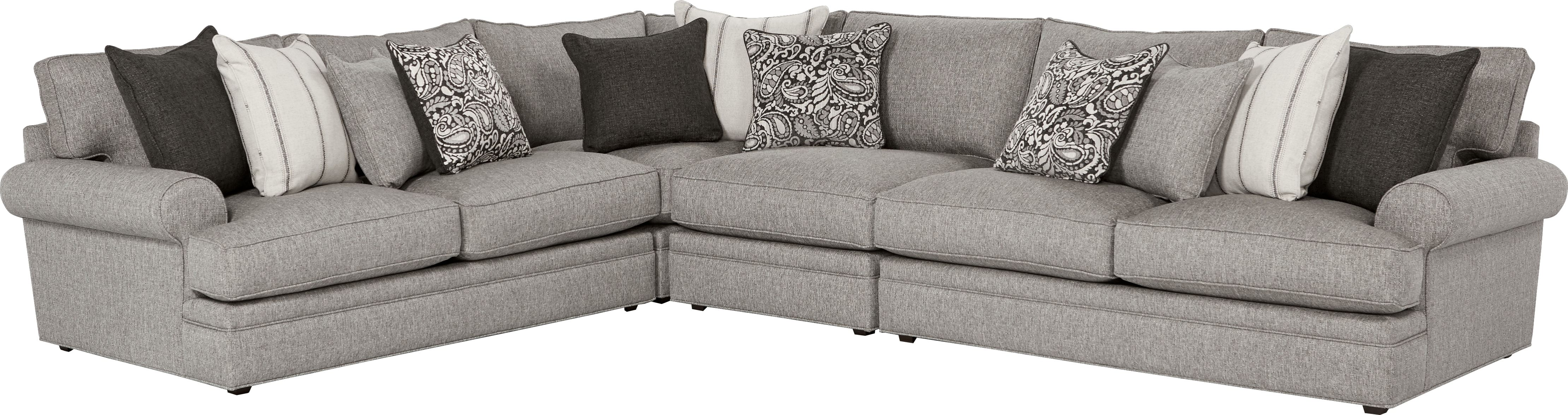 Magnificent Cindy Crawford Home Lincoln Square Gray 4 Pc Sectional Creativecarmelina Interior Chair Design Creativecarmelinacom