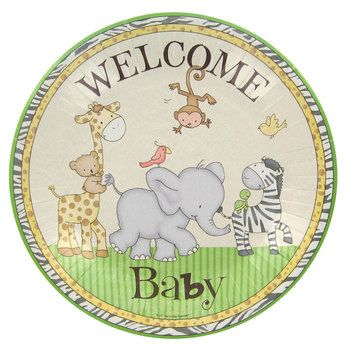 Safari Baby Shower Luncheon Plates Vals Baby Shower Pinterest