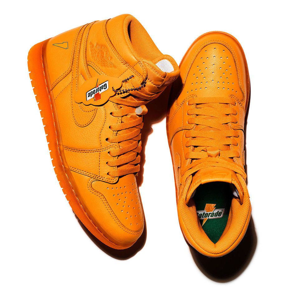 38883372a2216b air jordan 1 Retro High OG GATORADE ORANGE PEEL US MENS SHOE SIZES AJ5997- 880