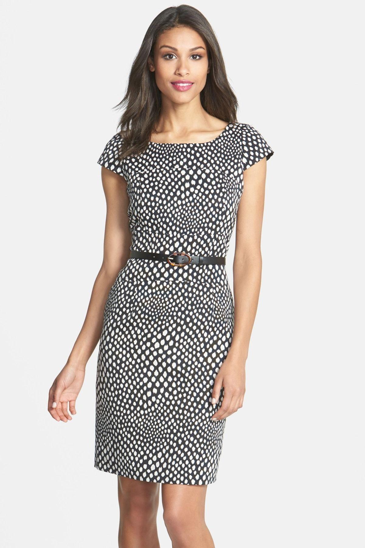 cf656d60d7a Tahari Belted Print Sheath Dress (Petite) by Tahari on  nordstrom rack