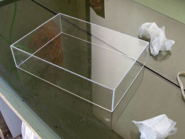 Tape Hinge Acrylic Box Construction Acrylic Box Diy Shadow Box Diy Box