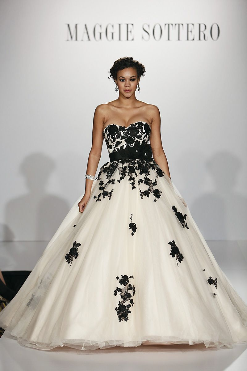 Black and white gothic wedding dresses  This is it This is the wedding dress of my dreams its so