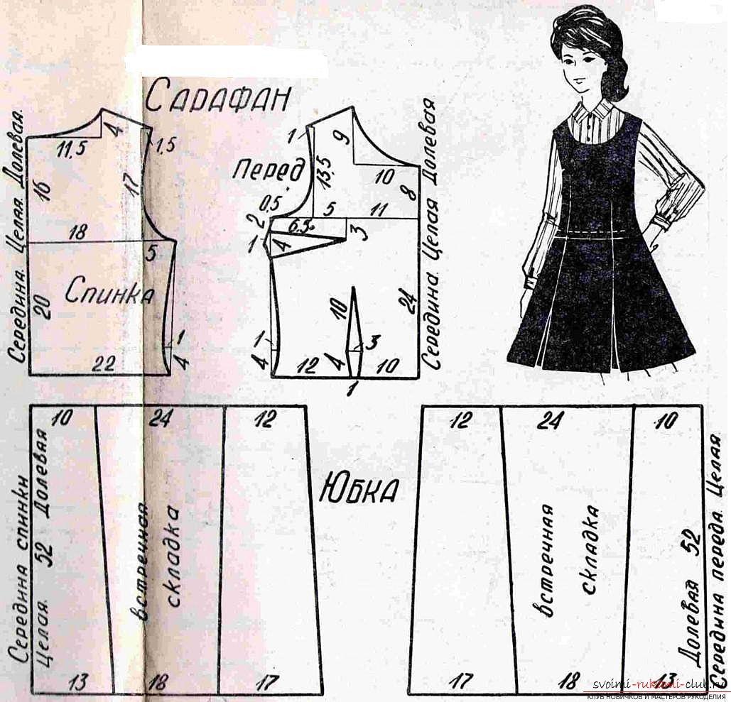 Выкройки красивых сарафанов платьев