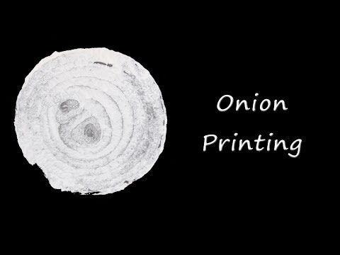 Printing with onions - YouTube